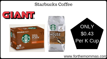 photo regarding Starbucks K Cups Printable Coupons titled Large: Starbucks Espresso Exactly $0.43 For every K Cup Setting up 5/10