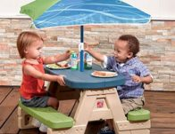 Step2 Sit and Play Kids Picnic Table With Umbrella $34.38 {Reg $50}