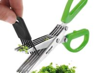 Westmark Germany Stainless Steel 5-Blade Herb Scissors with Cleaning Comb $10 {Reg $20}