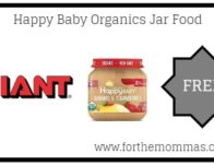 Giant: FREE Happy Baby Organics Jar Food Thru 6/6!