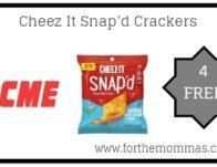 4 FREE Cheez It Snap'd Crackers Thru 5/23!