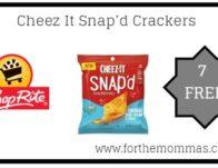 7 FREE Cheez It Snap'd Crackers Thru 5/25! {Updated}