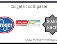 Colgate Toothpaste ONLY $0.99 {Reg $2.99}