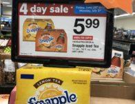 Snapple Drinks ONLY $0.50 Per Bottle Starting 8/23!