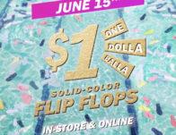 Old Navy $1 Flip Flop Sale on June 15th