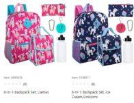 6-in-1 School Backpack Sets As Low As $8.99+ Free Store Pickup