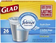 6-Pack Glad OdorShield 4 Gallon Trash Bags 26 Count ONLY $9.21 Shipped