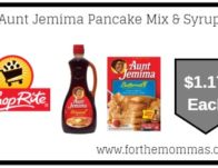 Aunt Jemima Pancake Mix & Syrup JUST $1.17 Each Starting 6/30!