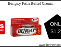 Bengay Pain Relief Cream ONLY $1.29 Starting 6/30