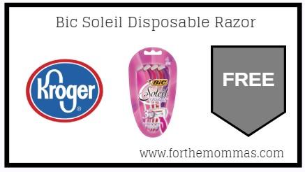 Kroger Mega Sale: FREE Bic Soleil Disposable Razor