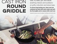 Cast Iron Griddle ONLY $14.99 (Reg. $30)