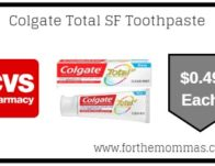 Colgate Total SF Toothpaste ONLY $0.49 Starting 6/16