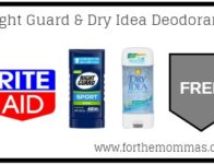 Free Right Guard & Dry Idea Deodorant 6/16 ONLY