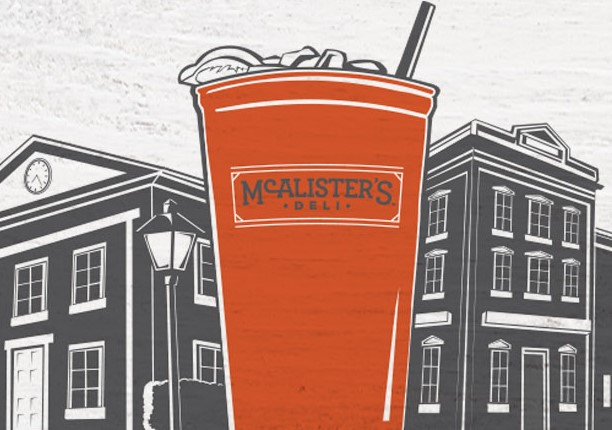 graphic relating to Mcalister's Printable Menu known as No cost Iced Tea at McAlisters Deli - FTM