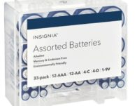 Best Buy: Insignia Assorted Batteries with Storage Box 33-Pk ONLY $10.49