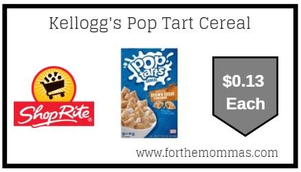 ShopRite: Kellogg's Pop Tart Cereal ONLY $0.13 Each Thru 6/22!