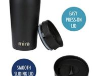 Mira 12-Ounce Stainless Steel Insulated Coffee Travel Mug  $11.99 {Reg $25}