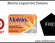Target: FREE Motrin Liquid Gel Tablets Thru 6/8!