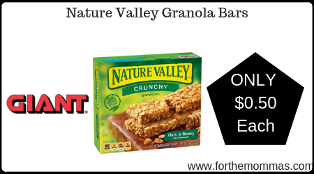 Nature Valley Granola Bars JUST $0.50 Each Starting 7/12!