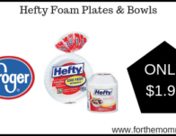 Hefty Foam Plates & Bowls ONLY $1.99 {Reg $3.49}
