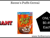 Reese's Puffs Cereal ONLY $0.49 Each Starting 6/28!