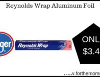 Reynolds Wrap Aluminum Foil ONLY $3.49