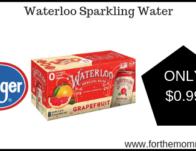 Waterloo Sparkling Water ONLY $0.99 {Reg $3.99}