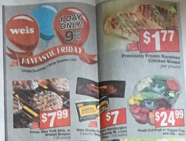 Weis Fantastic Friday Deals 06/07