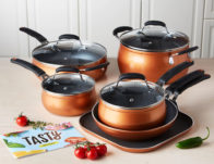 Tasty Non-Stick Diamond Reinforced Cookware Set, 11 Piece ONLY $49.50 (Reg $99)