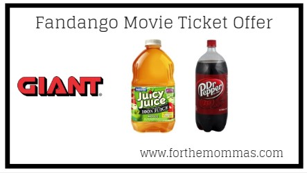 Deals On Juicy Juice, Dr. Pepper & More At Giant Thru 6/20! {Fandango Movie Ticket Offer}