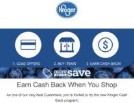 New Kroger Cash Back program