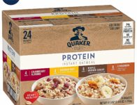 Quaker Instant Oatmeal, Protein Variety Pack, 24 Count Only $9.24