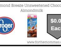 Almond Breeze Unsweetened Chocolate Almondmilk ONLY $0.09 Plus FREE Toy Story 4 movie ticket!