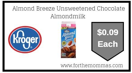 Kroger Mega Sale: Almond Breeze Unsweetened Chocolate Almondmilk ONLY $0.09 Plus FREE Toy Story 4 movie ticket!