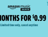 Amazon Music: Four months of ad-free Amazon Music for 99 cents