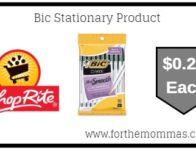 ShopRite: Bic Stationary Products ONLY $0.24 Each Starting 7/21!