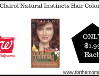 Clairol Natural Instincts Hair Color ONLY $1.99 Starting 7/21