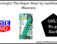 Covergirl The Super Sizer by Lashblast Mascara ONLY $2.49 Starting 7/21