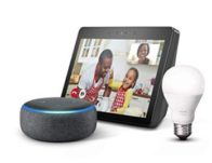 Echo Show (2nd Gen) Charcoal Bundle with free Echo Dot Charcoal and Philips Hue Bulb $159.99 {Reg $295}