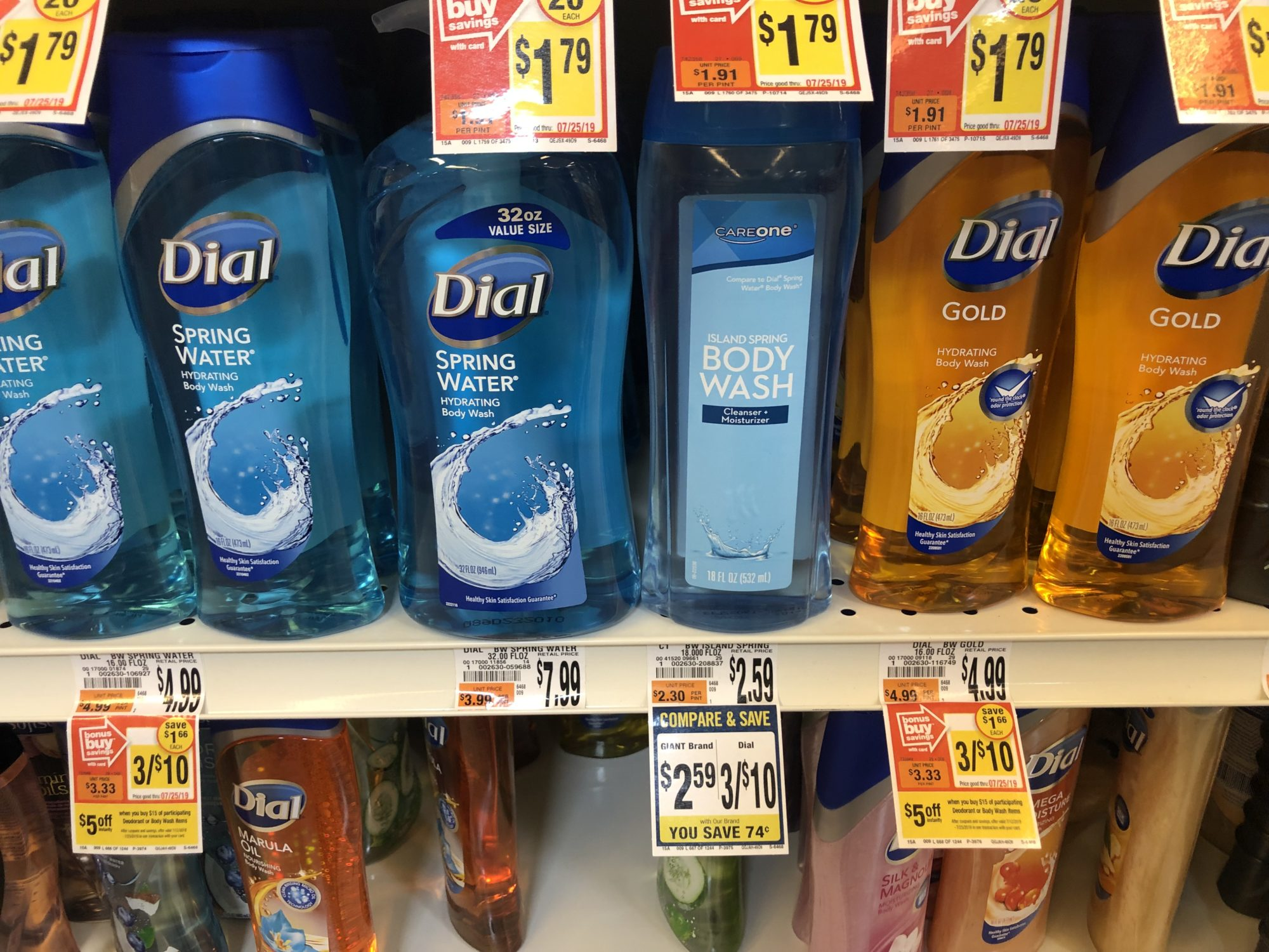 Giant: Dial Body Wash Just $1.28 Each Thru 7/18!