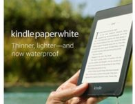Kindle Paperwhite – Now Waterproof with 2x the Storage – Includes Special Offers $84.99 {Reg $130}