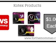 Kotex Products ONLY $1 Each Starting 7/21