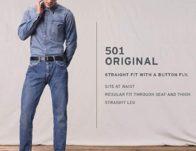 Levi's Men's 501 Original Fit-Jeans $27.43 {Reg $60}