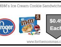 Kroger Mega Sale: M&M's Ice Cream Cookie Sandwiches ONLY $0.49 (Reg $4.99)