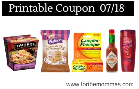 Newest Printable Coupons 07/18: Save On Tai Pei, Tabasco, L'Oreal, Poise & More