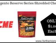 Sargento Reserve Series Shredded Cheese Just $1.00 Each Thru 7/18!