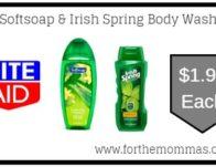Softsoap & Irish Spring Body Wash ONLY $1.99 Each Starting 7/21