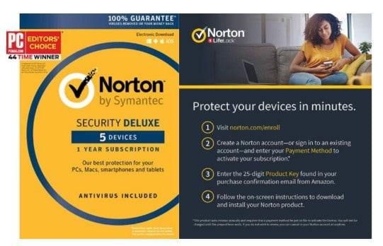 Symantec Norton Security Deluxe – 5 Devices – 1 Year