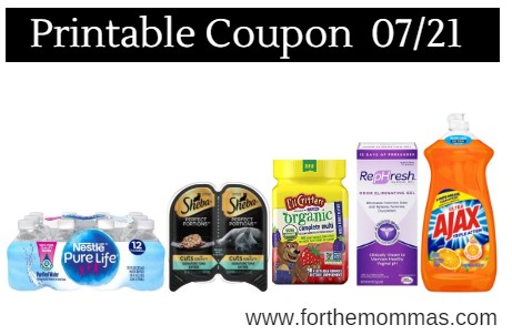 image relating to Stayfree Printable Coupon identified as Printable Coupon Roundup 07/21: Preserve Upon Nestle, vitafusion
