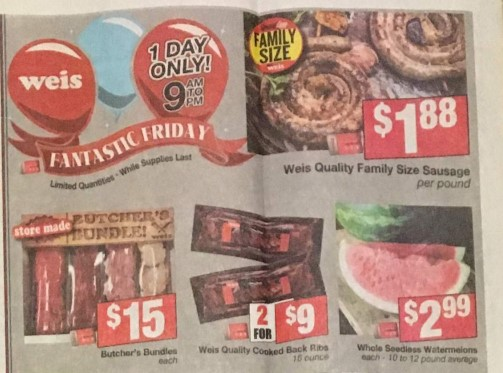 Weis Fantastic Friday Deals 08/02